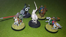 THEODEN & 4 ROHAN RIDERS LOTR HOBBIT WARHAMMER ESDLA GAMES WORKSHOP