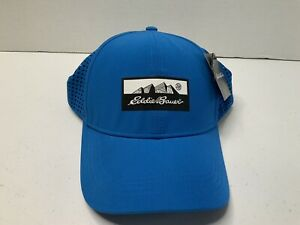 """Eddie Bauer Snapback Blue Hat """"Resolution"""" 50+ UPF Sun Protect, Breathable NWT"""