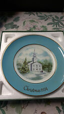 ~Vintage Avon Christmas Plate - 1974 - 2nd ed. - Country Church ~
