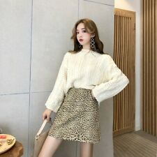 144 Korean Women's Fashion Pullover Sweater Top Long Sleeve Beige