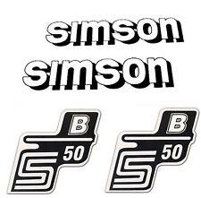 SET: Aufkleber SIMSON S50 - B - WEISS - für Tank und Seitendeckel