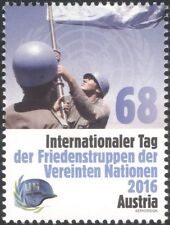 Austria 2016 UN Day/Austrian Armed Forces/Military/Soldiers/Army/Flags 1v at1165