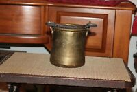Antique Middle Eastern Copper Brass Cauldron Kettle Iron Handle Small Size