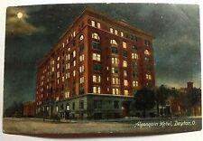 ALGONQUIN HOTEL DAYTON OHIO POSTCARD EARLY 1900s #1241a