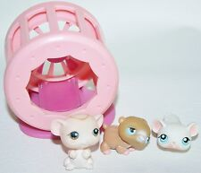 3 Littlest Pet Shop Lps Hamster Wheel #45 Mice #41 #429
