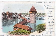 Switzerland Postcard - Luzern - Kapellbrucke Und Wasserturm      ZZ3769