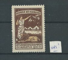 Nederland IN2  Interneringszegel  MH/ongebr CV 125  € vervalsing !