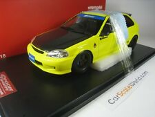 SPOON SPORTS HONDA CIVIC TYPE R EK9 1/18 ONEMODEL (YELLOW/CARBON)