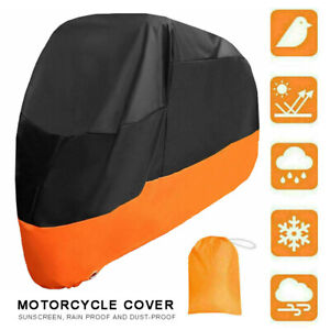 Heavy Duty XXXL Waterproof Motorcycle Motorbike Cover Outdoor Rain UV Protector