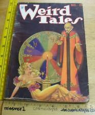 WEIRD TALES December 1933 pulp magazine VINTAGE Robert E Howard Brundage cover