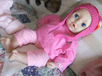 """LILY"" IS THE DELUXE OF ZAPF CREATION BABY DOLLS SOFT BODY TALKS DRINKS & WETS +"