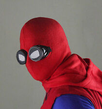 Spider-Man:Homecoming Peter Parker Red Hood Mask Glasses Halloween Fancy Props