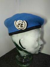 MILITARY HAT UN  BERET VINTAGE OPERATION PEACE KEEPING NEW ** FREE POST **