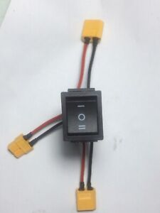ebike switch for two battery packs anti spark. . 60A connectors.