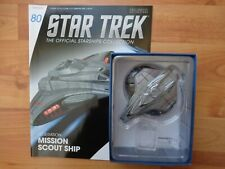 STAR TREK EAGLEMOSS STARSHIPS COLLECTION #80 FEDERATION MISSION SCOUT SHIP