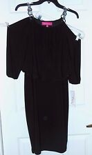 """Nine & Co """"Day to Dinner"""" Black Dress-4    Buckle accent shoulder straps NWT $50"""