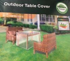 "Hentex Outdoor Patio Furniture Rectangular Table Cover w/ Rip Stop 88 x 58 x 23"""