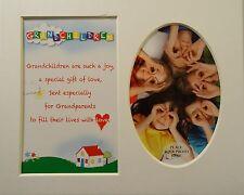 """petits-enfants"" Keepsake photo mount to fit 8 ""x 10"" Chambre Salon Maison"