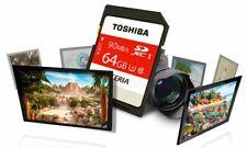 64GB SD Card SDXC Toshiba MEMORY CARD Class 10 64 GB 4K For Digital Cameras UK