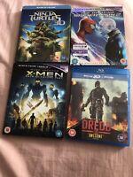 3d blu-ray bundle X 4. Spider-Man 2, X-Men, Dredd & Teenage Mutant Ninja Turtles