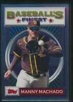 2020 Topps Baseball's Finest Flashbacks #191 Manny Machado San Diego Padres