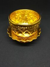 SMALL GOLD COLOR BOWL &TRAY WATER FOR DRINKING THAI ANTIQUE COLLECTION  # 1