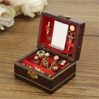 1/12 Dollhouse Miniatures Wood Jewelry Box Mini Doll Room Decor House Accessory