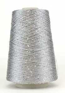 42,50 €/kg *Konengarn * Paillettengarn * Sequin Yarn * Farbe Silver * Nm 7,8