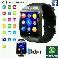 NUOVO TOUCH SCREEN BLUETOOTH SMART OROLOGIO DA POLSO q18 per Android mobies & IOS iPhone