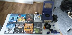 NINTENDO GAMECUBE WITH GAMES AND PORTABLE SCREEN READ DISCRIPTION