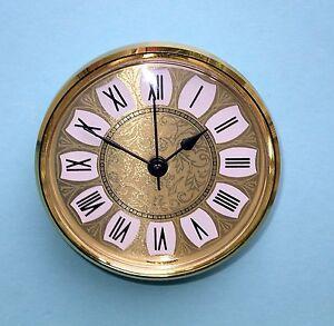 German 100mm BEZEL QUARTZ CLOCK insert  retro gold roman dial