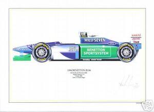 Michael Schumacher ltd.ed.signed artprint-1994 Benetton
