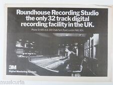 retro magazine advert 1981 ROUNDHOUSE recording studio