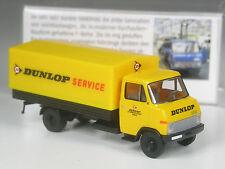 Klasse: Brekina Hanomag Henschel F55 Lastwagen Dunlop Reifen in OVP