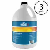Chauvet DJ Hurricane HFG Water Based Smoke Fog Machine Fluid, 1 Gallon (3 Pack)