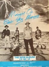 MIDNIGHT OIL 1990 original POSTER ADVERT BLUE SKY MINING