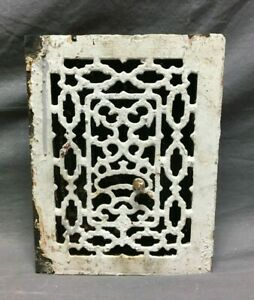 Antique Cast Iron Heat Grate Register 7x10 Decorative VTG White Old 160-21B