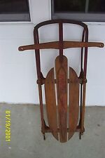 Vintage Yankee Clipper Snow Sleigh No. 10 Wood and Metal Circa 1940's