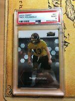 Troy Polamalu 2003 Topps Finest Rookie Card RC PSA 9 MINT Steelers HOF!