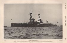 1915 WW1 HMS BELLEROPHON WITH NEW SHORTENED MASTS