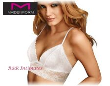 Maidenform Wirefree Lightly Lined Shaping Bralette, DM1127, Pearl, Size XLarge