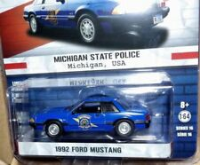 GREENLIGHT HOT PURSUIT 16 1992 FORD MUSTANG MI MICHIGAN STATE POLICE fox