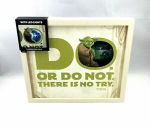 """Hallmark YODA """" THERE IS NO TRY """" FRAME WITH LED LIGHTS"""