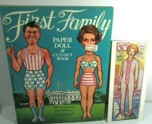 1981 FIRST FAMILY Paper Doll Book & Kit Uncut Nancy Ronald Reagan Al Kilgore Art