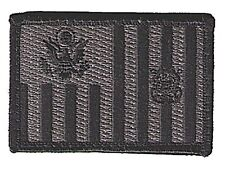 "IRON-ON Ensign flag black/gray 3""x2"" sharp W5480H-TOM-BMP USCG Coast Guard patch"