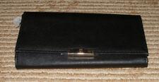 NY&C New York & Company Black Vinyl Clutch Wallet! 7974 94440! New w/Tags!