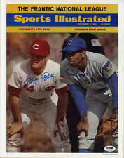 Pete Rose Ernie Banks SIGNED Sports Illustrated Print ITP PSA/DNA AUTOGRAPHED
