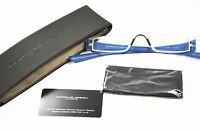 Porsche Design Lesebrille P8801 N +2,5 Blau Silber Metall Unisex Brille Neu