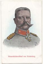 Litho Ak Generalfeldmarschall von Hindenburg 1 Wk WW1 ! (A2657