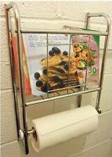 Montaje En Pared Acabado de latón tejido de tocador Revista Rack Estante Organizador De Baño